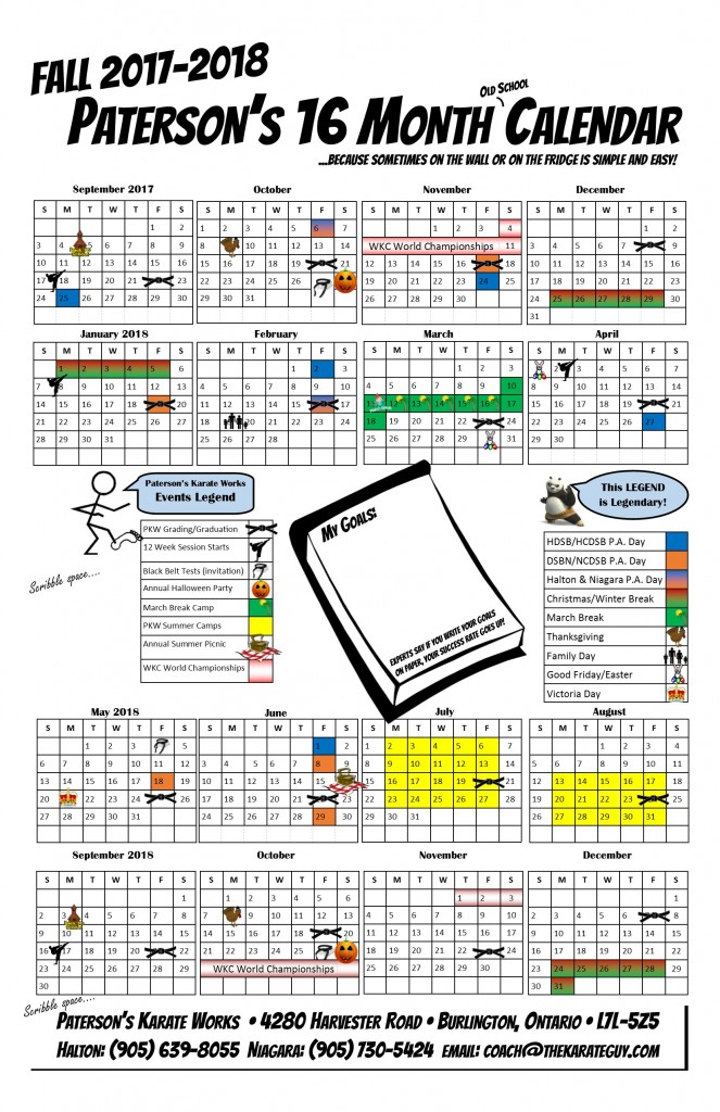 Calendar PKW 11x17 2017 2018
